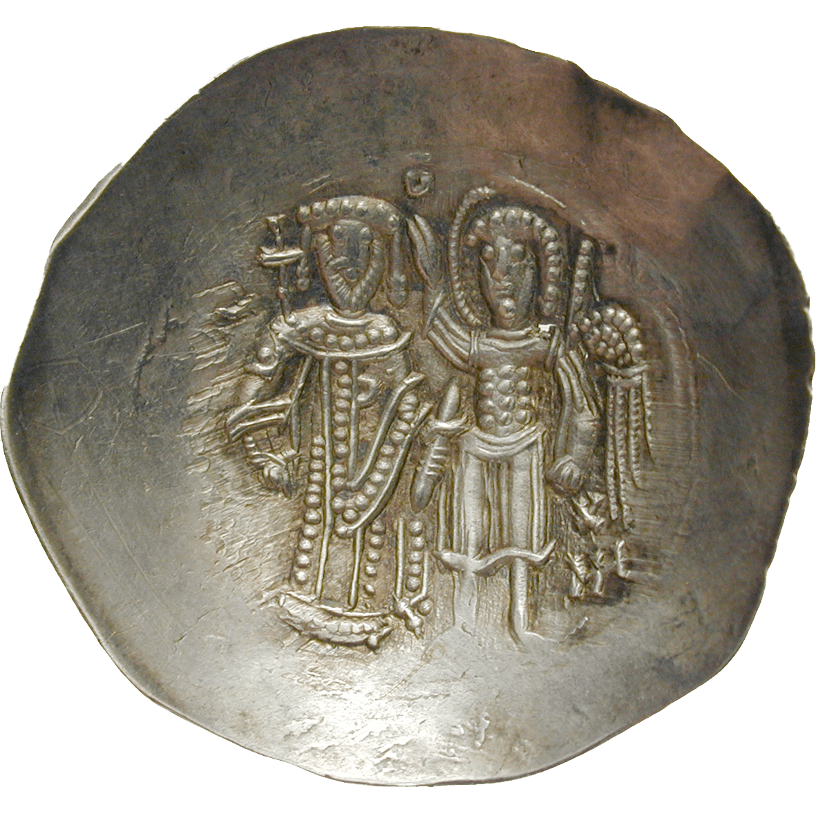 Byzantine Empire, Isaac II Angelos, Aspron Trachy (reverse)