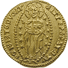 Latin Empire, Principality of Achaea, Robert of Anjou-Tarent, Ducat (obverse)
