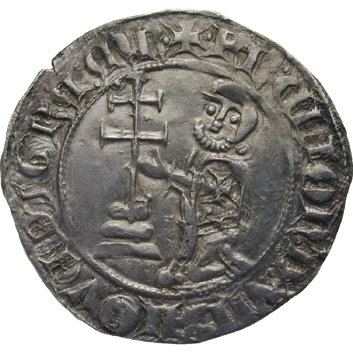Rhodos under the Order of St John, Helion de Villeneuve, Gigliato (obverse)