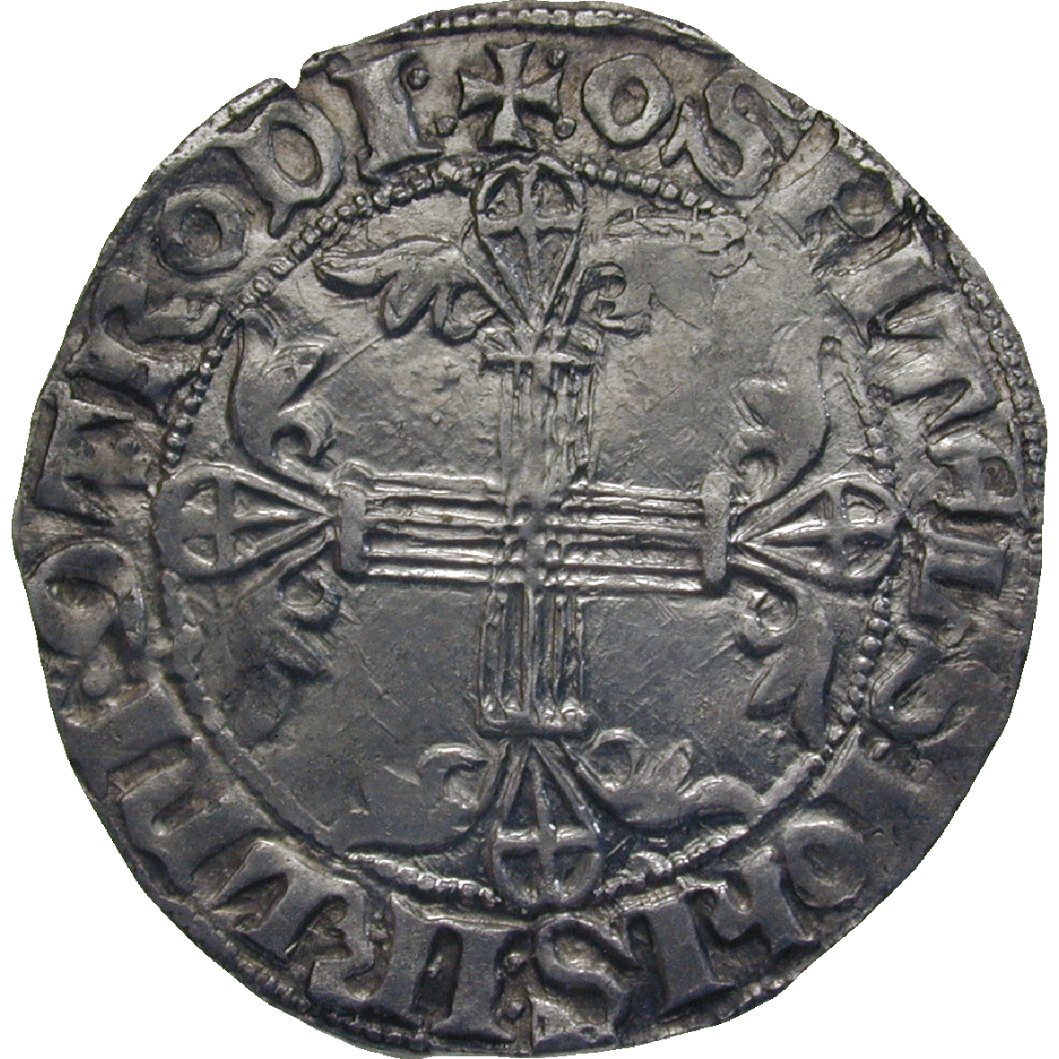 Rhodos under the Order of St John, Helion de Villeneuve, Gigliato (reverse)