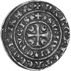 Holy Roman Empire, Hainaut, Marguerite de Constantinople, Small Gros (obverse)