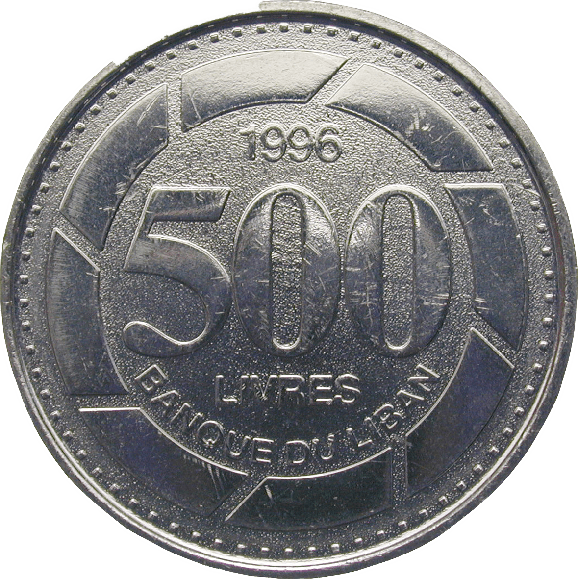Republic of Lebanon, 500 Lira 1996 (reverse)