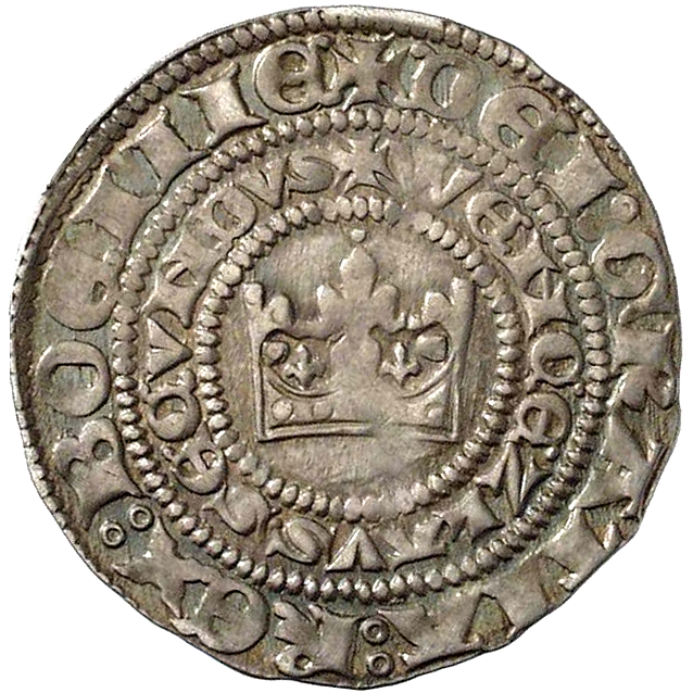 Holy Roman Empire, Kingdom of Boehmia, Wenceslaus II, Groschen of Prague (obverse)