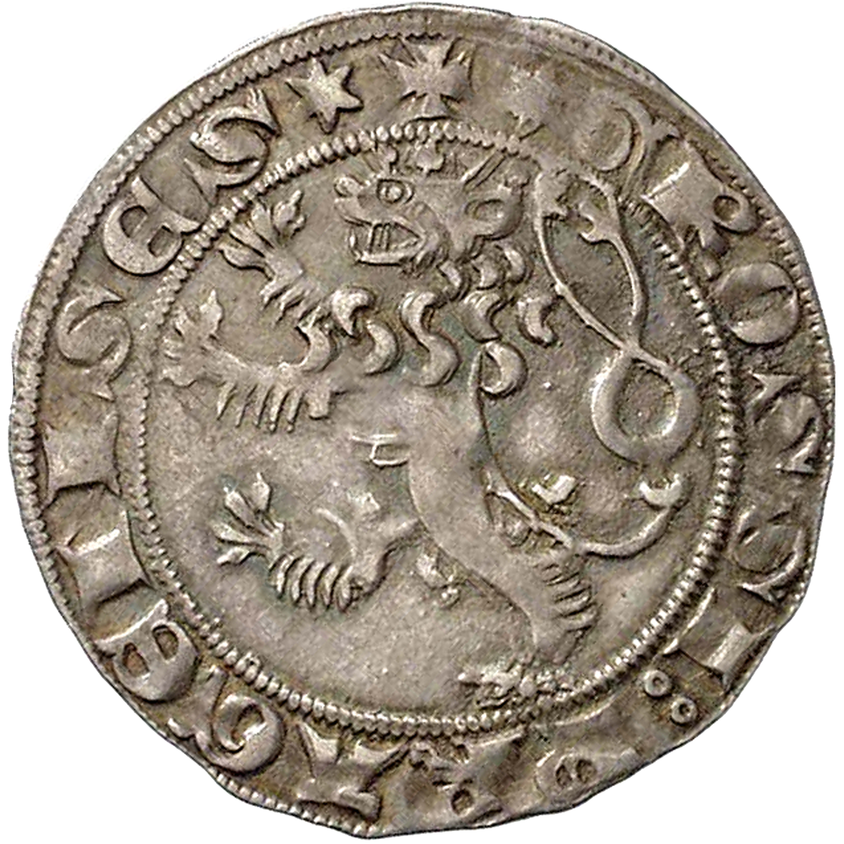 Holy Roman Empire, Kingdom of Boehmia, Wenceslaus II, Groschen of Prague (reverse)