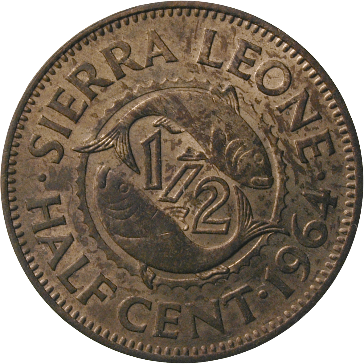 Republic of Sierra Leone, Half Cent 1964 (reverse)