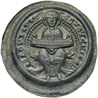 Holy Roman Empire, Bishopric of Halberstadt, Gero of Schermbke, Bracteate (obverse)