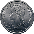 Republic of France for the Comoros, 2 Francs 1964 (obverse)