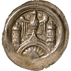 Holy Roman Empire, Walter II of Arnstein, Bracteate (obverse)
