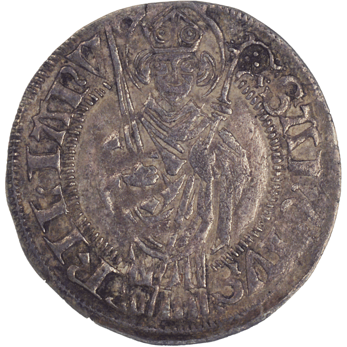 Holy Roman Empire, Bishopric of Würzburg, Rudolf II of Scherenberg, Shilling  (reverse)