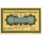 German Empire, Weimar Republic, Wurzbach, Emergency Issue worth 50 Pfennig 1921 (obverse)