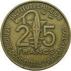 Republic of France for French West Africa, 25 Francs 1957 (obverse)