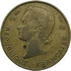 Republic of France for French West Africa, 5 Francs 1956 (obverse)