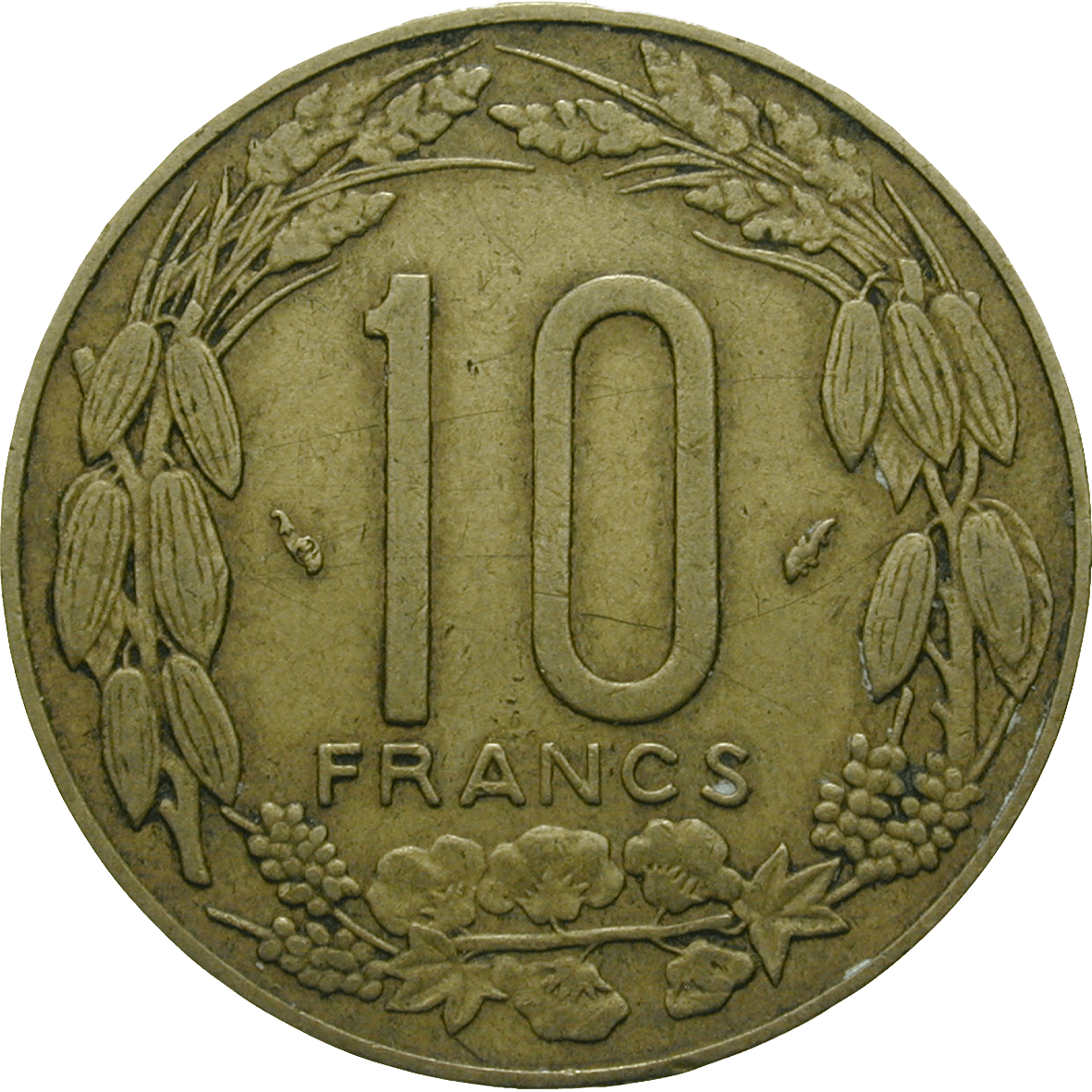 Central African Monetary Union, 10 CFA Francs 1983 (reverse)