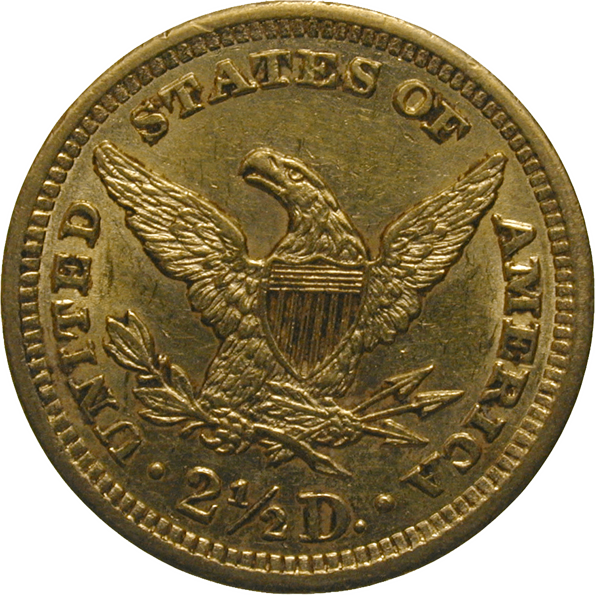 United States of America, 2 1/2 Dollars 1902 (reverse)