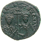 Byzantine Empire, Constantine VII and Zoe, Follis (obverse)