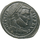 Roman Empire, Licinius, Follis (obverse)