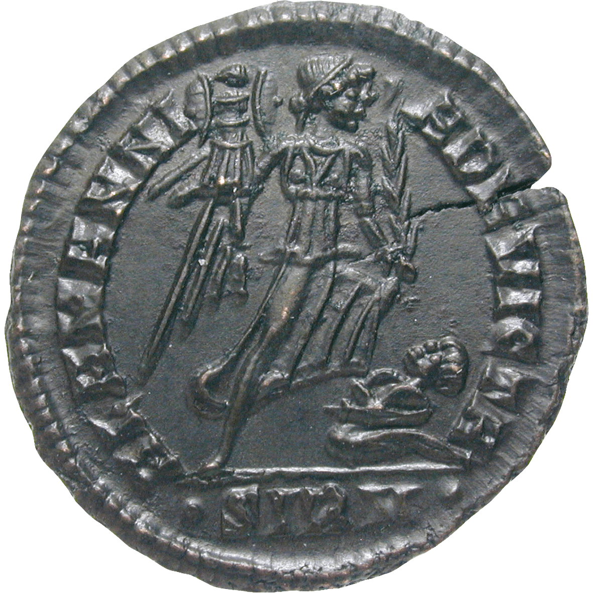 Roman Empire, Constantine II as Caesar, Bronze Coin (reverse)