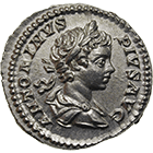 Roman Empire, Caracalla as Caesar, Denarius (obverse)