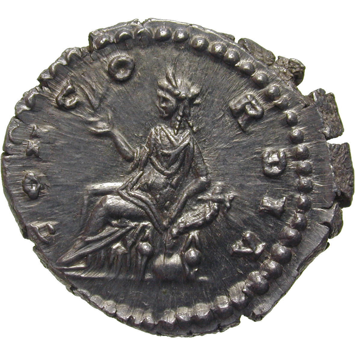 Roman Empire, Marcus Aurelius for Faustina Minor, Denarius (reverse)