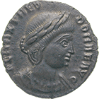 Roman Empire, Constantius Chlorus for his Wife Flavia Maximiana Theodora, Bronze Coin (obverse)