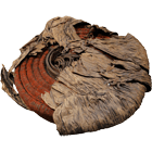 Melanesia, Solomon Islands, Santa Cruz Islands, Tevau Feather Money Wrapped in Palm Leaves (obverse)