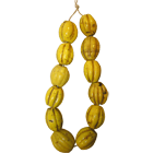 Indonesia, North Coast of Papua, Necklace from Yellow Glass Beads (obverse)