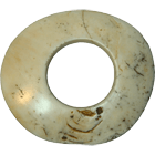Papua New Guinea, Boiken People, Wenga Clam Shell Ring with Ten Transaction Notches (obverse)