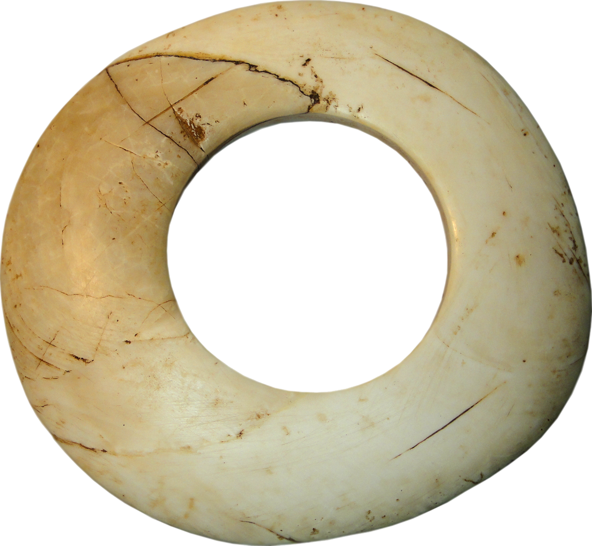 Papua New Guinea, Boiken People, Wenga Clam Shell Ring (reverse)