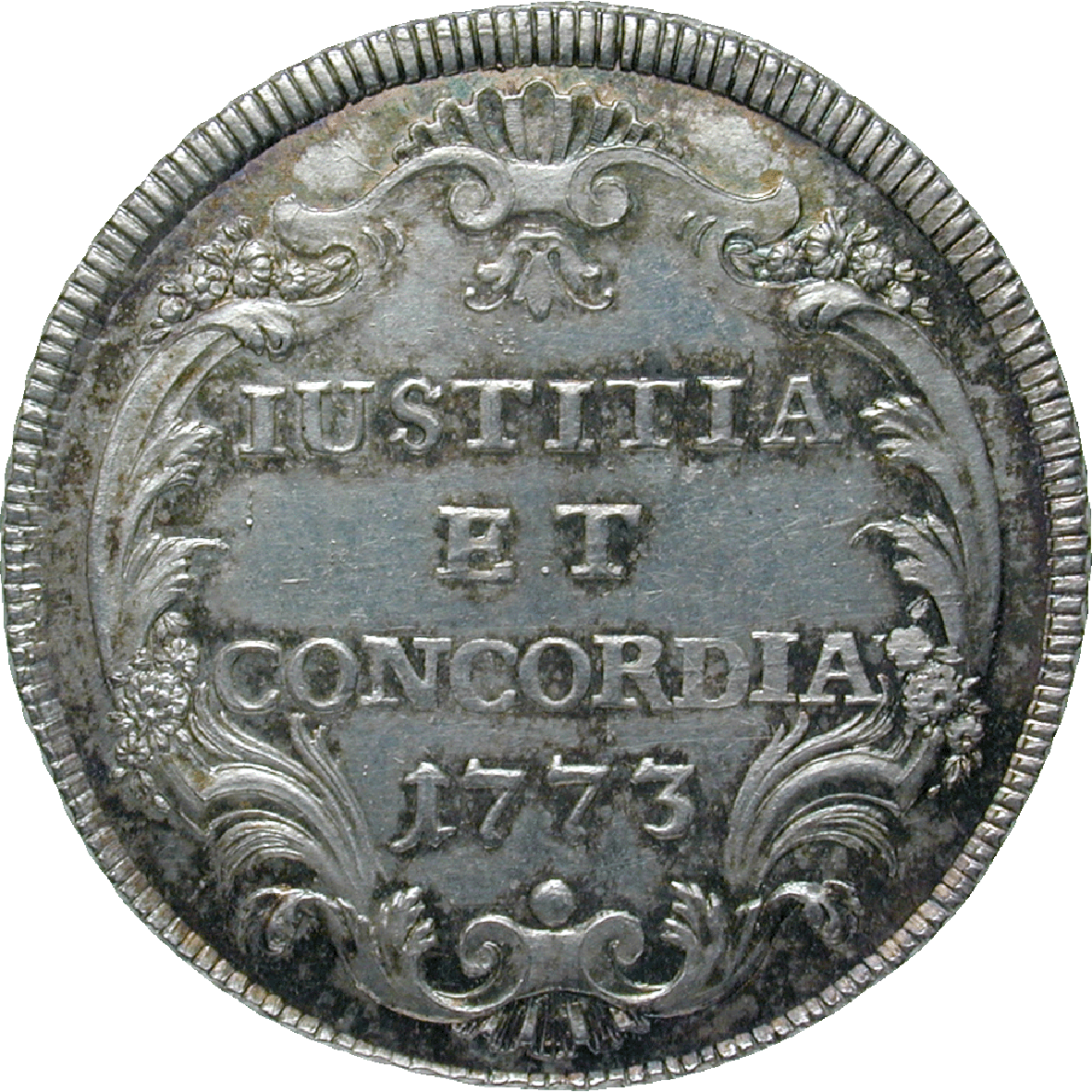 Republic of Zurich, 1/2 Taler 1773 (reverse)