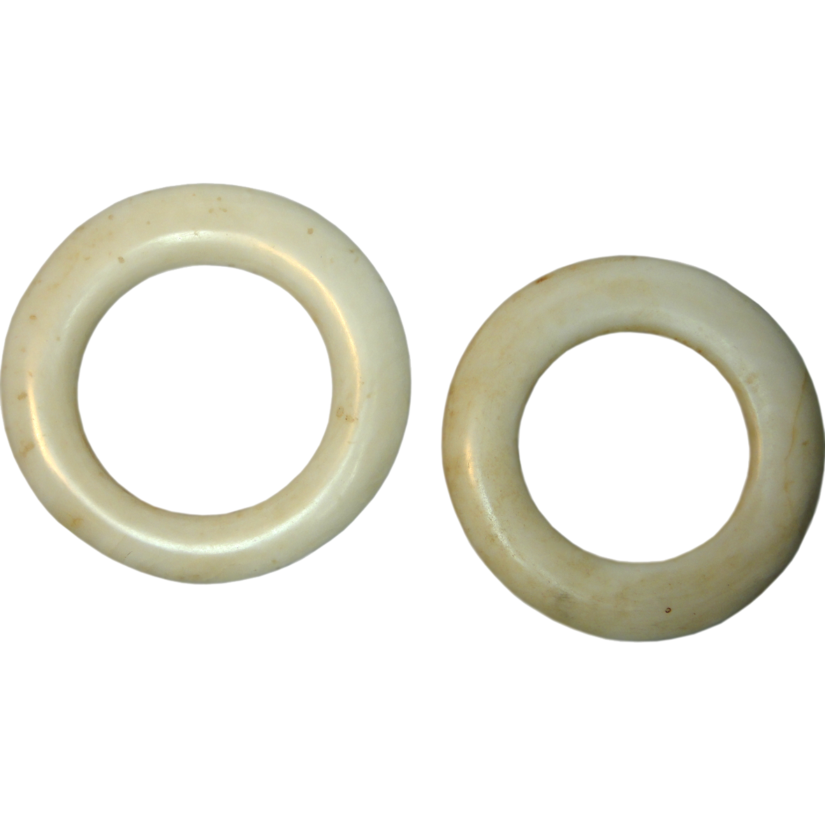 Papua New Guinea, East Sepik Province, Two Yua Clam Shell Rings (obverse)