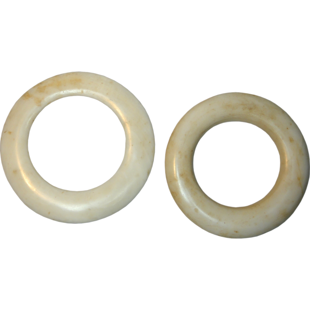 Papua New Guinea, East Sepik Province, Two Yua Clam Shell Rings (reverse)