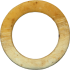 Melanesia, Western Solomon Islands, Bakia Clam Shell Ring with a High Proportion of Yellow (obverse)