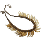 Indonesia/Papua New Guinea, necklace of dog teeth (obverse)