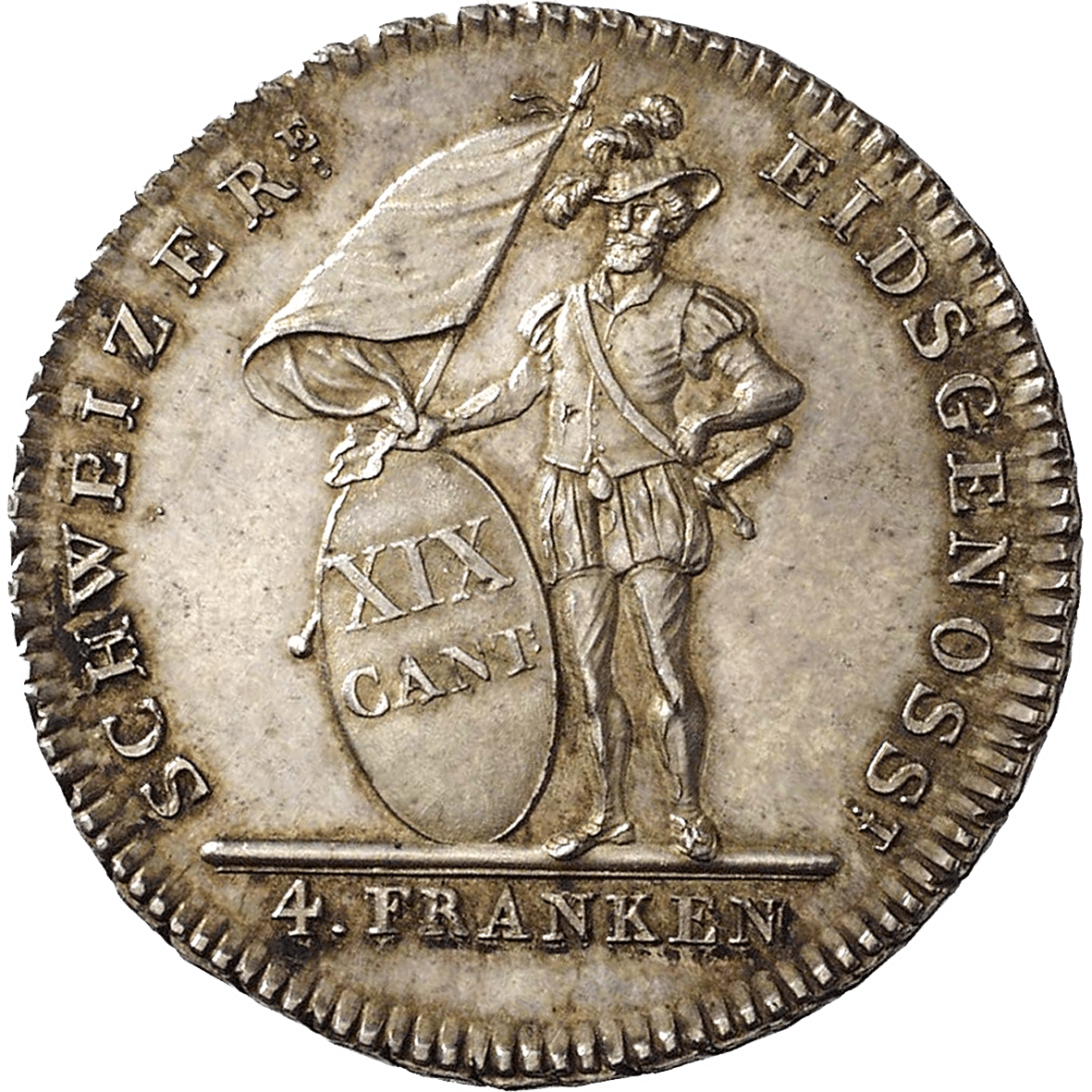 Canton of Solothurn, Time of Mediation, 4 Francs 1813 (reverse)