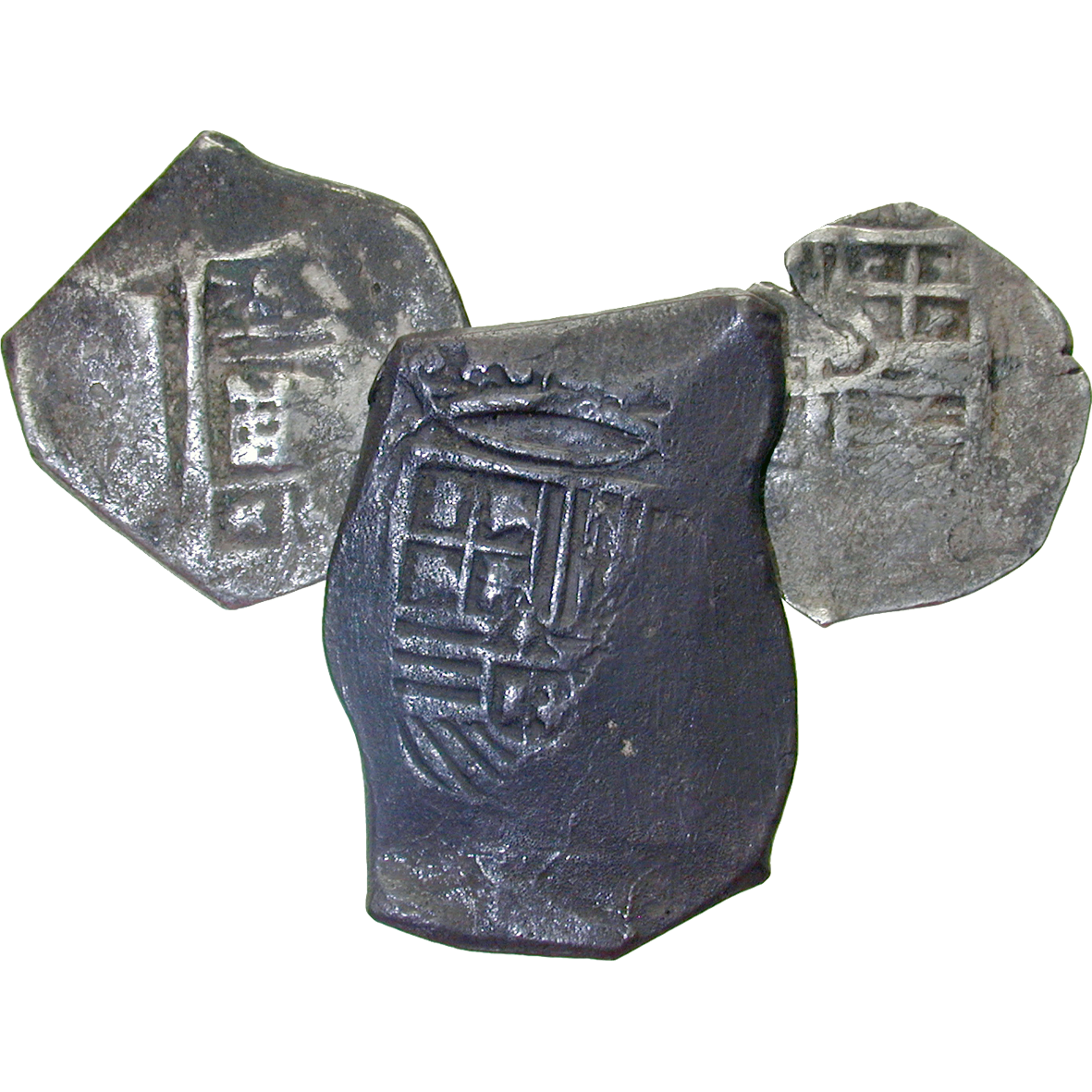 Spain, Philip IV, Cobs, Pieces of 8, 4 and 2 Reales (reverse)