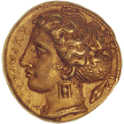 Sizilien, Dionysios I., 100 Litren (obverse)