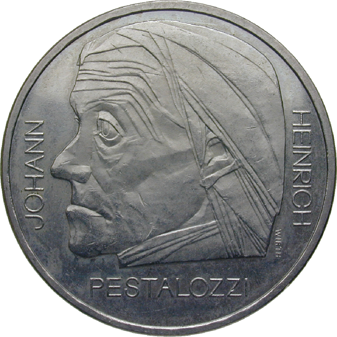 Swiss Confederation, 5 Franks 1977 (obverse)