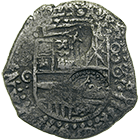 Kingdom of Spain, Philip IV, Real de a ocho (cob) 1650 (obverse)