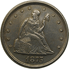 United States of America, 20 Cents 1875 (obverse)