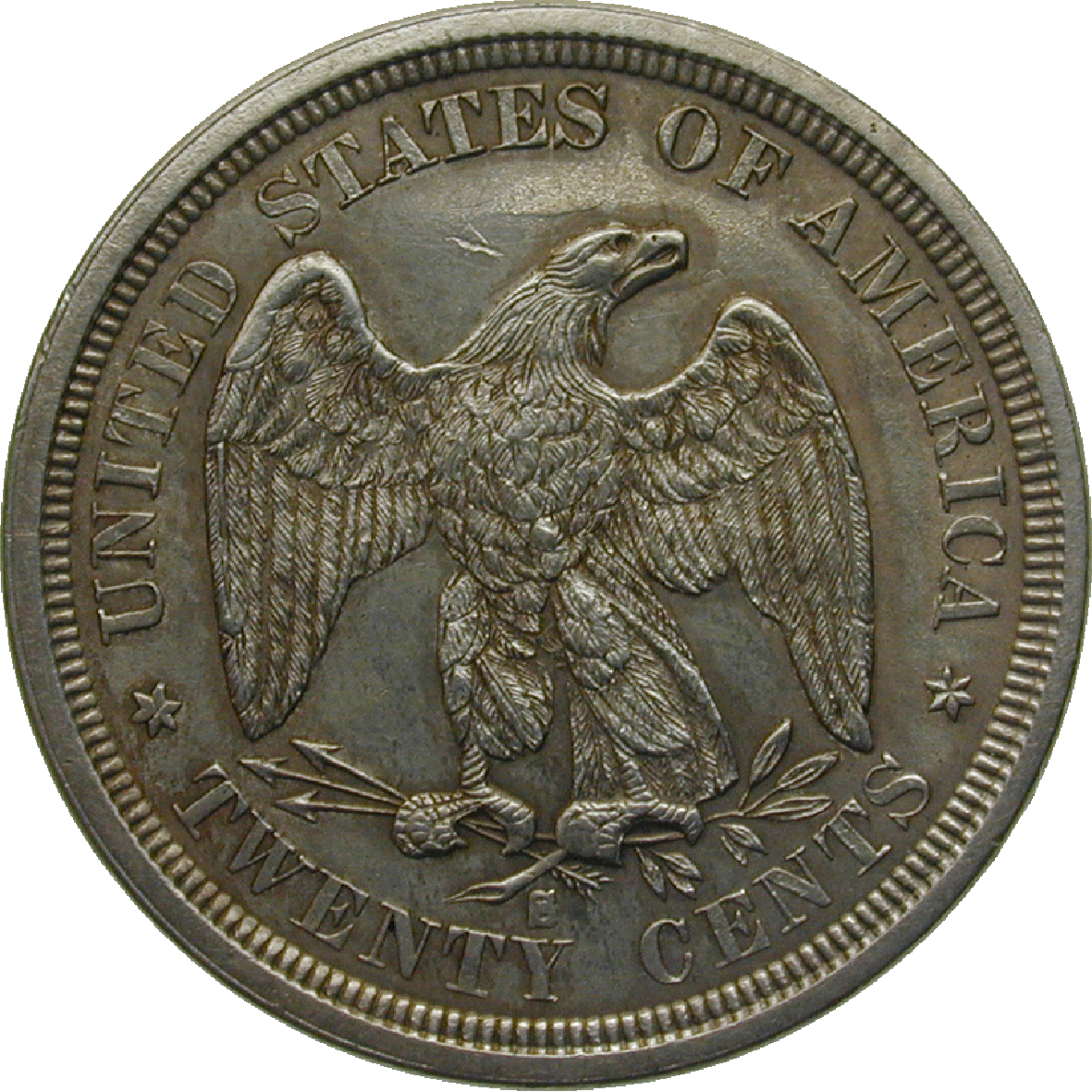United States of America, 20 Cents 1875 (reverse)
