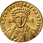 Byzantine Empire, Justinian II, Solidus (obverse)