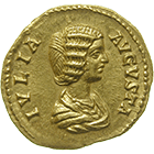 Roman Empire, Septimius Severus for his Wife Julia Domna, Aureus (obverse)