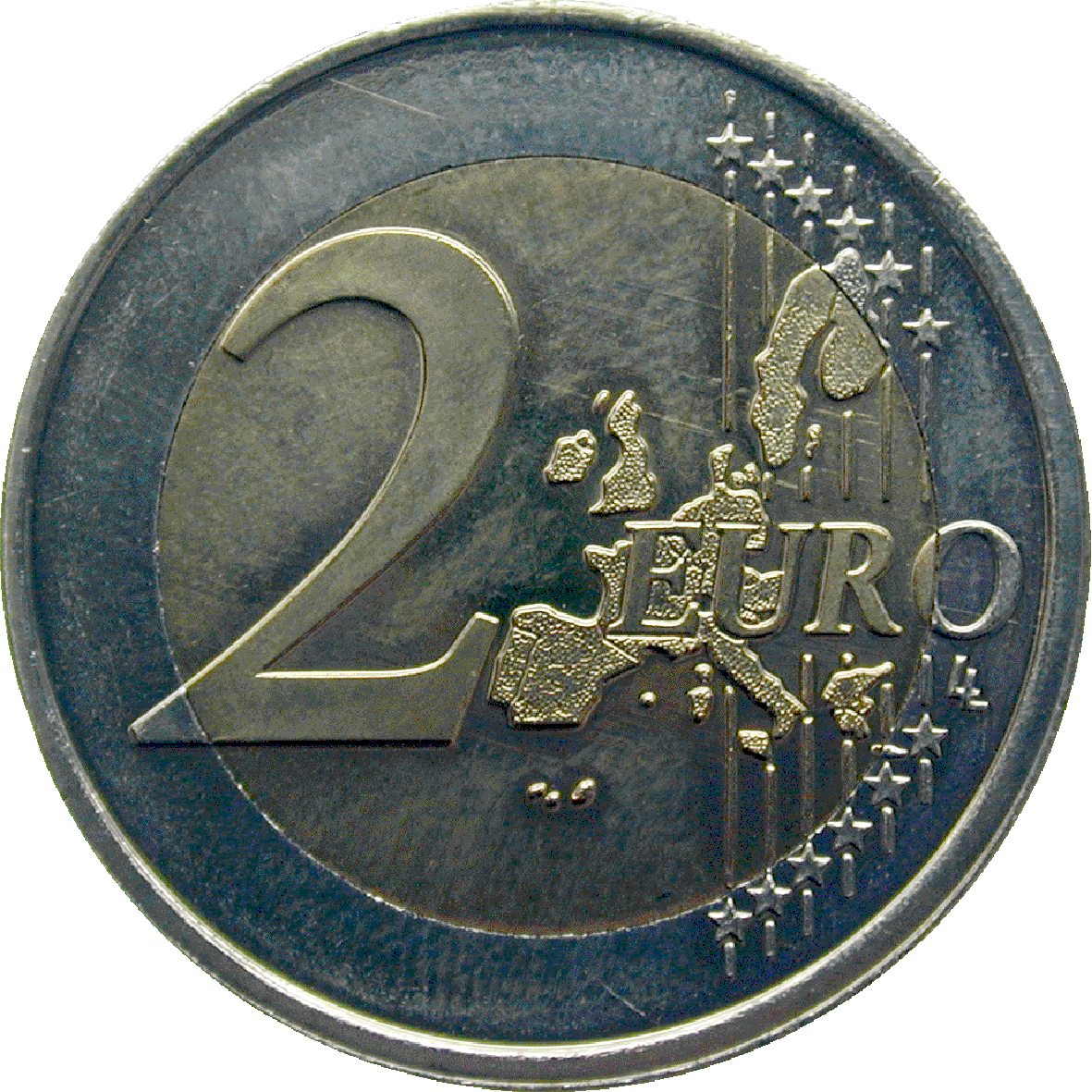 Kingdom of the Netherlands, Beatrix, 2 Euro 2002 (obverse)