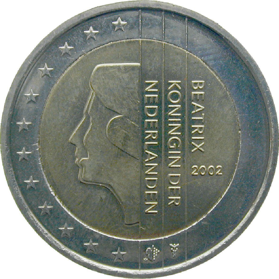 Kingdom of the Netherlands, Beatrix, 2 Euro 2002 (reverse)