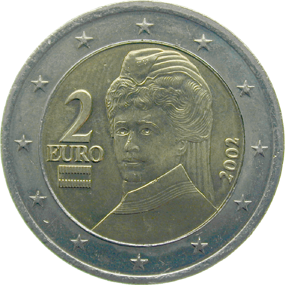 Republic of Austria, 2 Euro 2002 (reverse)