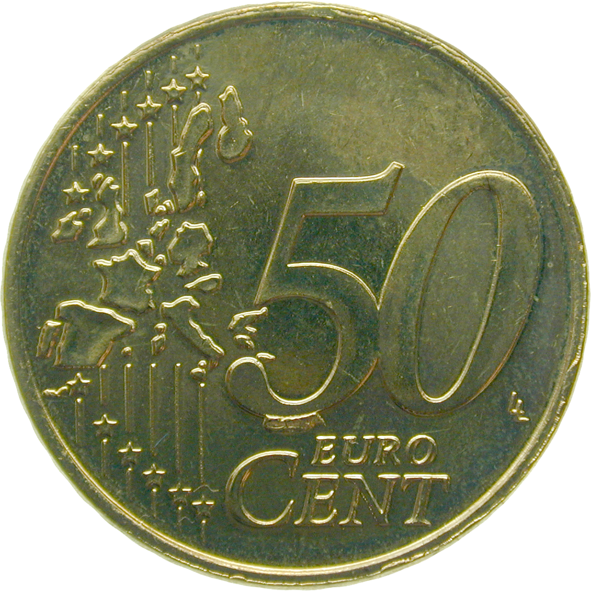 Grand Duchy of Luxembourg, Henri, 50 Euro Cent 2002 (obverse)