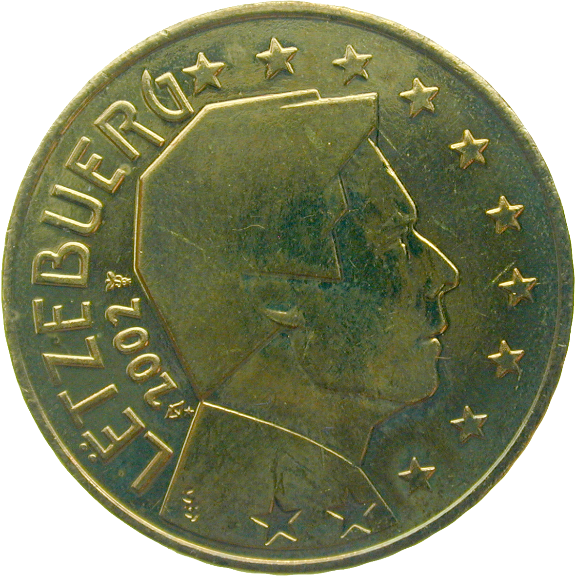 Grand Duchy of Luxembourg, Henri, 50 Euro Cent 2002 (reverse)