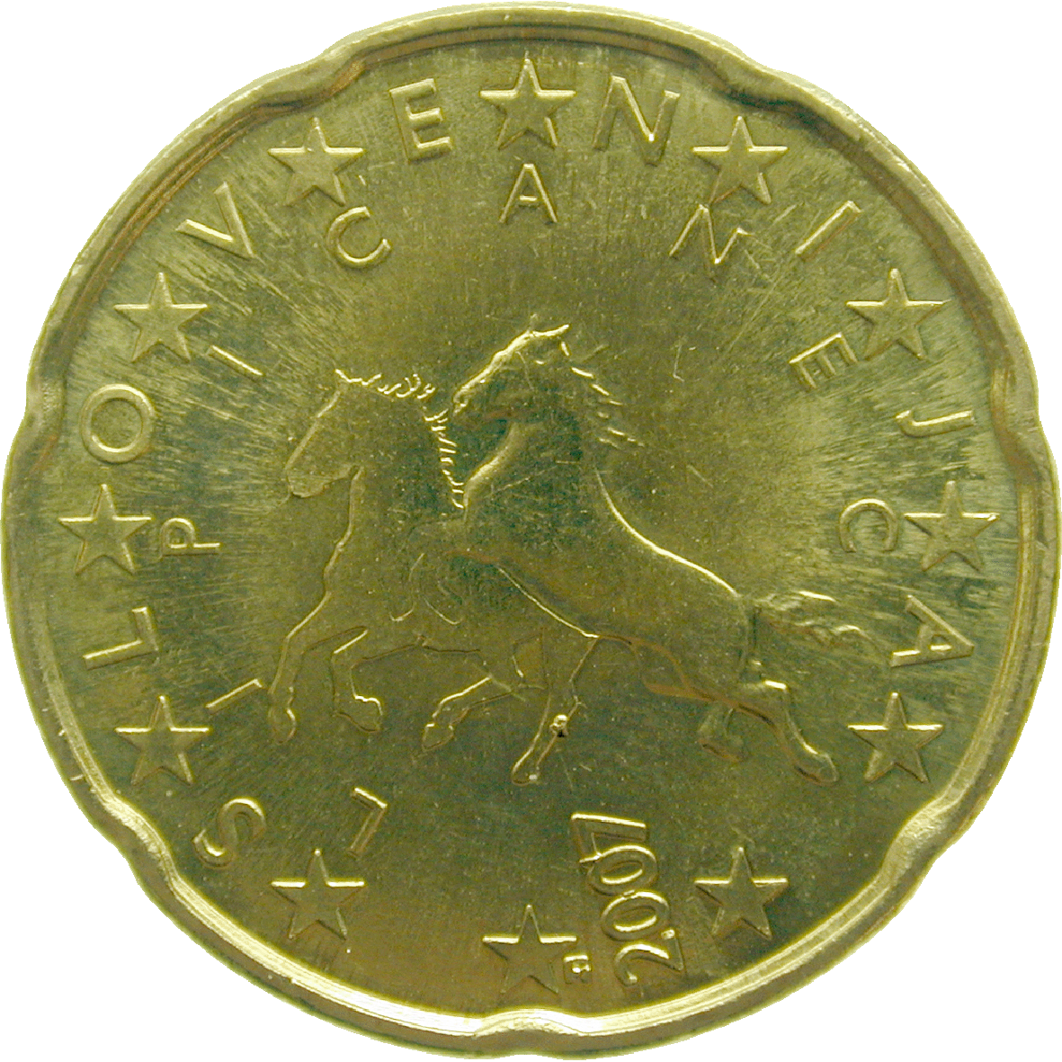 Republik Slowenien, 20 Eurocent 2008 (reverse)
