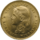 Kingdom of the Netherlands, Wilhelmina, 10 Gulden 1897 (obverse)
