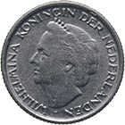 Kingdom of the Netherlands, Wilhelmina, 10 Cents 1948 (obverse)